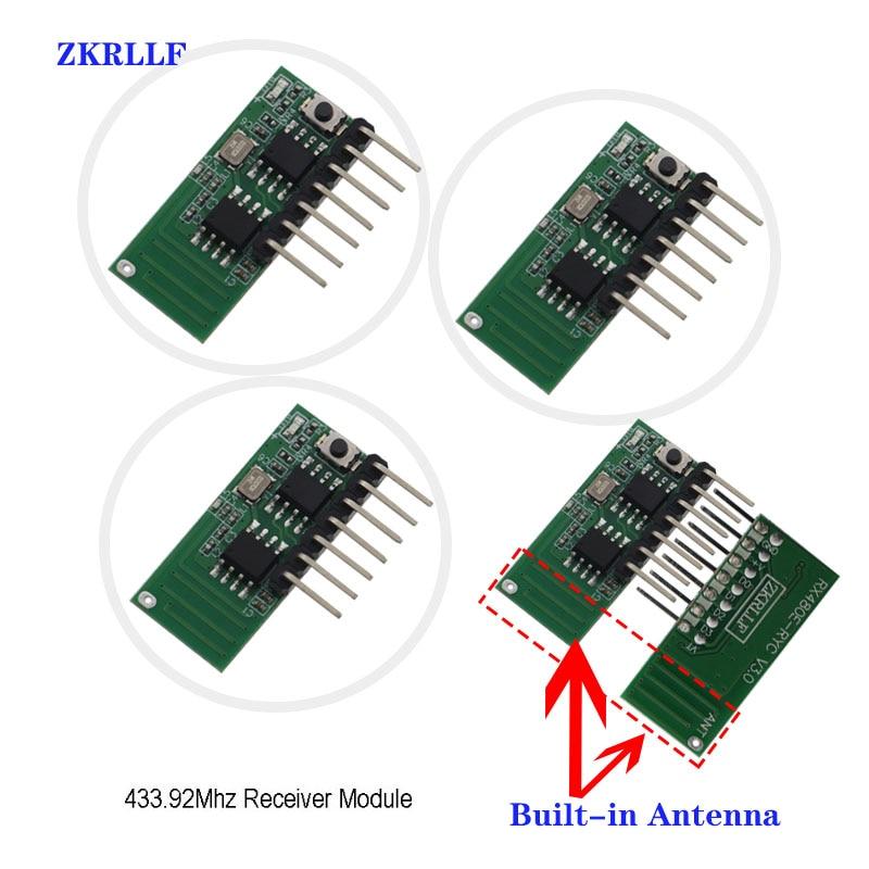 3 шт., беспроводной Радиочастотный Приемник 433 МГц, модуль декодера кода для обучения, 433 МГц, 4-канальный выход, комплект «сделай сам» для дист...