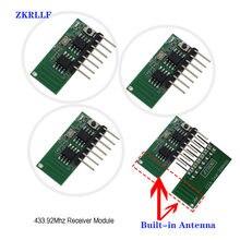 3 pcs 433mhz Ricevitore RF Wireless Apprendimento del Codice Decoder Modulo 433 MHZ 4CH uscita kit Fai Da Te Per Il Controllo Remoto 1527 codifica
