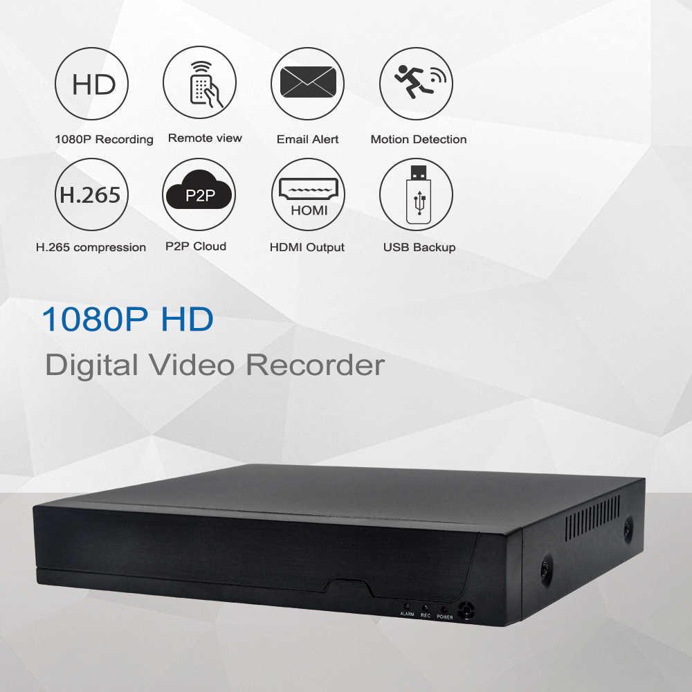 حارس H.265 4CH /8CH POE NVR ل HD 1080P 2MP POE IP كاميرا الصوت PoE NVR 48 فولت 802.3af P2P ONVIF شبكة مسجل فيديو