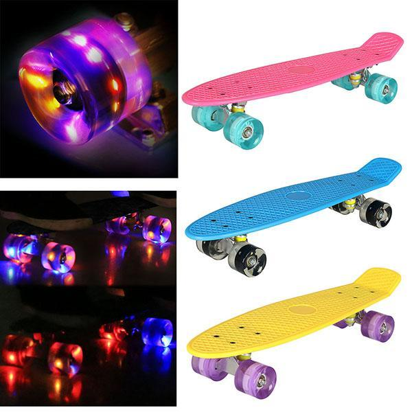Four-wheel Mini Skateboarding Scooter Skates Kickboard  Fingerboard Plastic Deck Board Outdoor Sports For Adult Or Children
