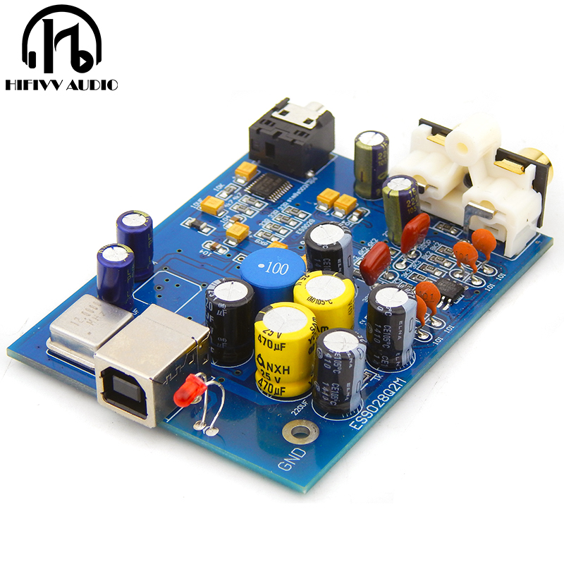 Hifi Audio Usb Decoder Es9028q2m Sa9023 Usb Dac Decoder Board External Support 24bit 92k 100% High Quality Materials