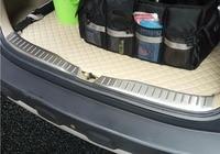 2Pcs Fit עבור הונדה CRV CR V נירוסטה אחורי תא מטען לקצץ פנימי עליון אחורי פגוש צלחת אביזרי רכב 2007 2008 2009 מהיר sh-במוטות צד ומדרגות מתוך רכבים ואופנועים באתר