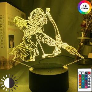 Led-Night-Light Link-Figure Game Zelda Desk Usb-Lamp Room-Decor Color-Changing The Legend