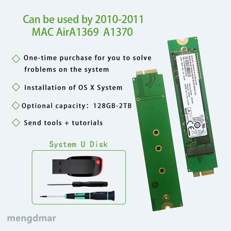 NEW Macbook Air A1369 A1370 For 2010 -2011 Year 128GB、256GB、512GB、1TB、2TB SSD MC503 MC504 MC505 MC 506 MC965 MC966 MC968 MC969