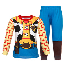 AmzBarley Boys sleepwear Woody pajamas costume kids Cotton Nightwear toddler 2pcs nightgown Autumn winter clothes set for 2-8 Y