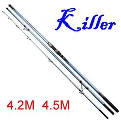 Sunboen 4.2m 560g 4.5M 650g CR Ring 4000g Lure Carbonfiber Killer SurfCasting Surf Casting Fishing Rod Tip 3.5mm Bait 100-250g