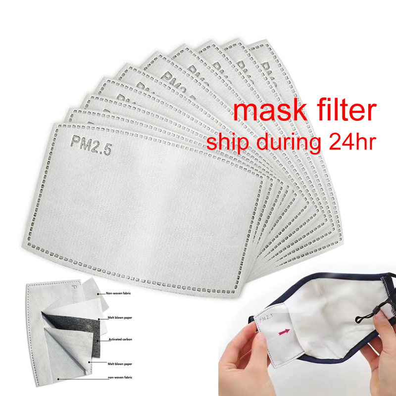 10/50/100Pcs Breathable PM 2.5 Filter Paper Face Mask Filter Anti Dust Flu Haze Mouth Mask Outdoor Windproof Mask