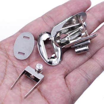 50Sets Switch Turn Twist Clasp Locks Buckle Metal Silver Tone For Handbag Craft Hardware Tool Purse Bag DIY Finding 32mm - DISCOUNT ITEM  25 OFF Luggage & Bags