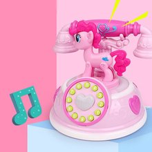 High Quality Retro Telephone Early Education Story Machine Multi-mode Simulation Telephone Girl Toy retro telephone style musical box toy coffee gold