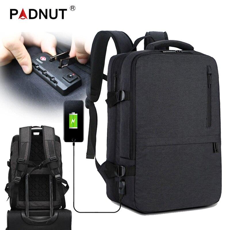 Большой рюкзак для ноутбука с защитой от кражи Женский Мужской рюкзак Mochila мужской рюкзак 17 USB зарядное устройство для путешествий Бизнес Рю...