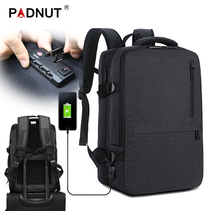 Grote Laptop Rugzak Anti Diefstal Vrouwen Mannen Bagpack Mochila Notebook Mannelijke Rugzakken 17 USB Charger Travel Business Back Pack Tassen
