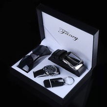 Fashion Watch Men Luxury Gift Set Sunglasses Keychain Top Quality Belt Multiple