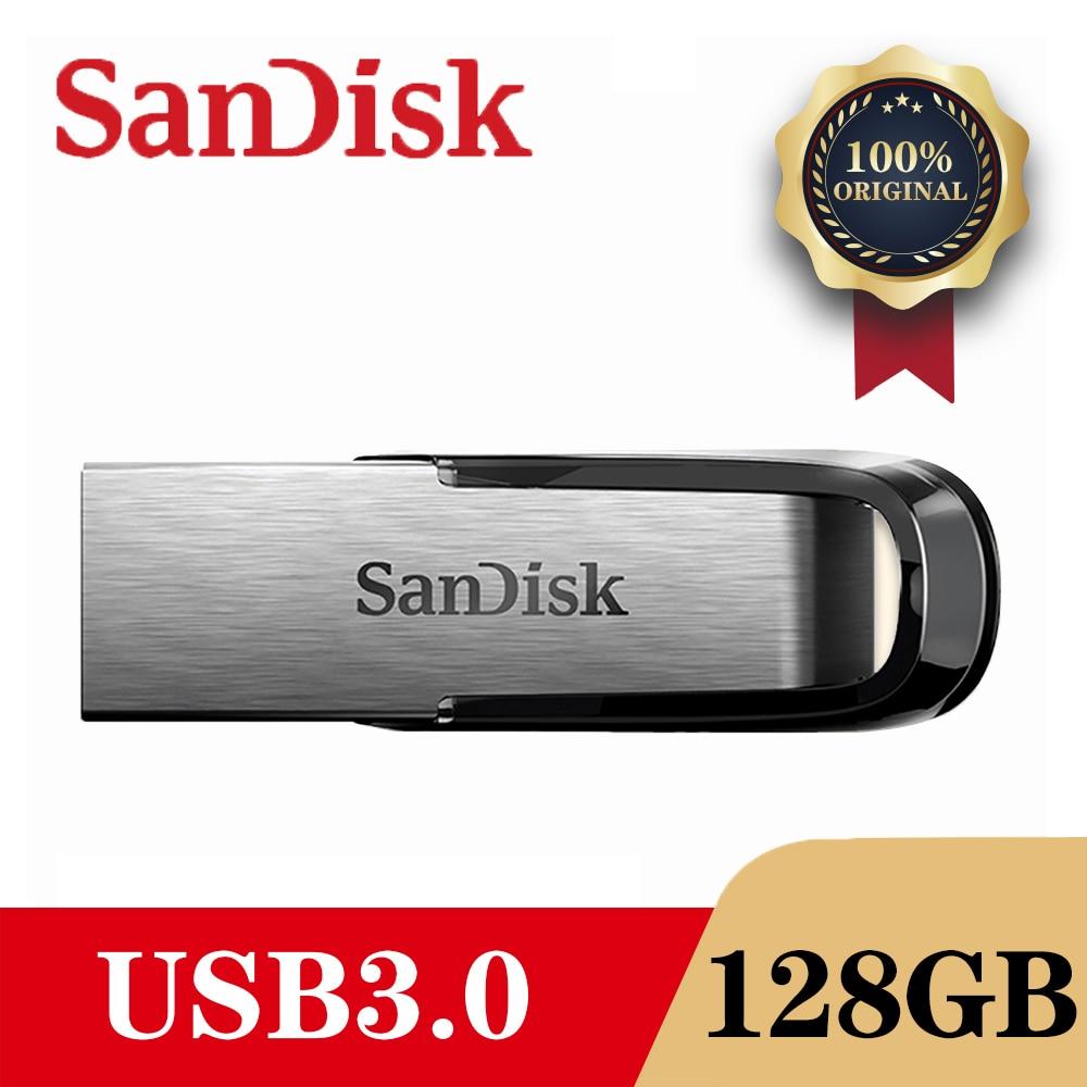 SanDisk USB 3.0 Flash Drive Disk 128GB 64GB 32GB 16GB Pen Drive Tiny Pendrive Memory Stick Storage Device Flash drive Dropship(China)