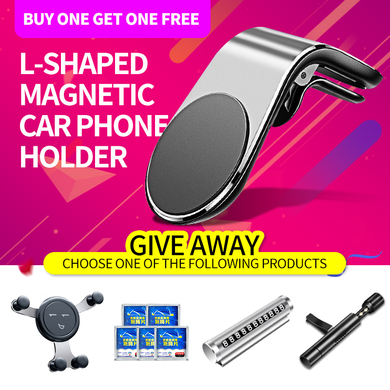 Kaleno Metal Magnetic Car Phone Holder Stand Car Air Vent Magnet Stand For Iphone Samsung Xiaomi In Car GPS Smartphone  Holder