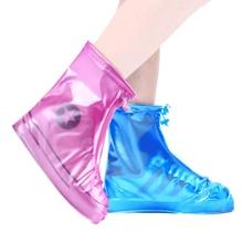 1 Pair Rain Shoe Boots Cover PVC Waterproof Anti-slip Rainproof for Women Men MC889