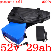 52V electric bike battery 52v 30ah Lithium battery use panasonic cell for 48V 1000W 2000W electric scooter battery+5A charger|electric bike battery|bike battery52v electric bike battery -
