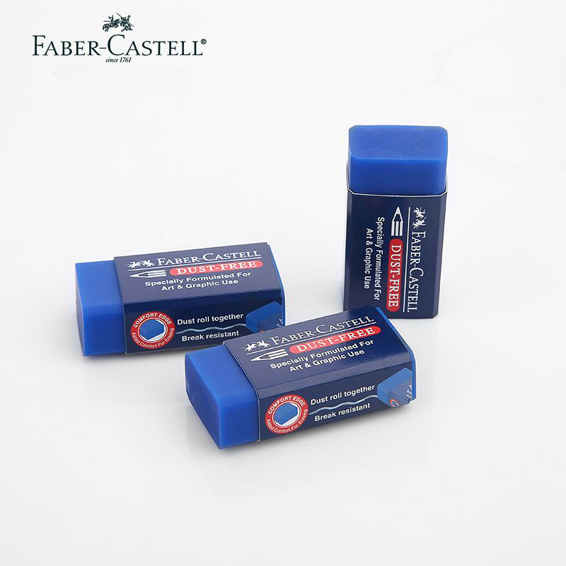 4 Pcs/Set Faber Castell Blue Eraser Specially For Art And Graphic  Drawing Supplies