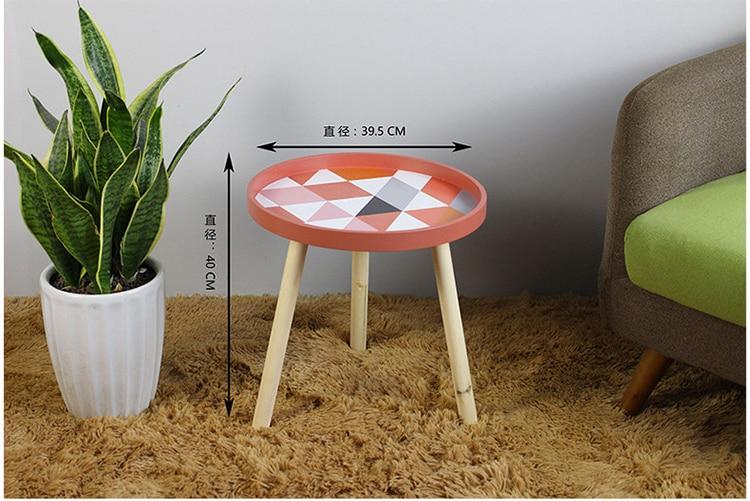 Современные маленькие свежие мини-кофейные столы креативные деревянные низкие круглые столы для гостиной минималистичные аксессуары для украшения дома