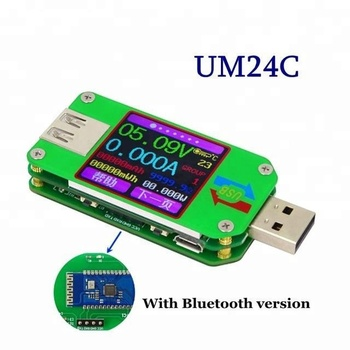 цена на UM24C USB 2.0 Color LCD Display Tester Voltage Current Power Temp Meter Current and Voltage Capacity Power Tester
