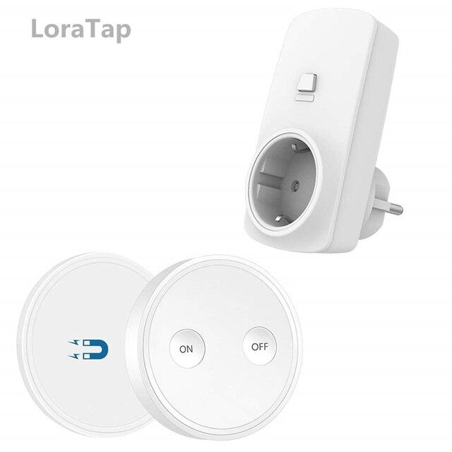 Enchufe inalámbrico de 200m para ventiladores de luz, enchufe de la UE, Mini Control Remoto Portátil, dispositivo doméstico de 10a, sin WiFi, sin aplicación, fácil de usar, tp
