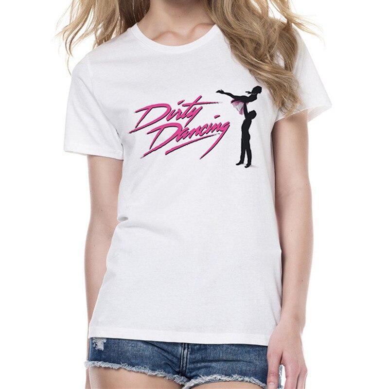 Dirty Dancing T Shirt Summer Fashion T-shirt Women Short Sleeve O-Neck White Tees Tops Female Clothes
