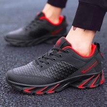 Yeni bahar sonbahar rahat ayakkabılar erkekler büyük size39 44 spor ayakkabı moda rahat örgü moda dantel up yetişkin erkek ayakkabısı zapatos hombre