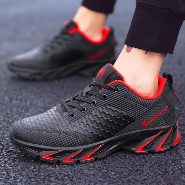 جديد ربيع الخريف حذاء كاجوال الرجال كبيرة size39 44 حذاء رياضة العصرية مريحة شبكة أزياء من الدانتل متابعة الكبار حذاء رجالي zapatos hombre