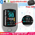CE FDA Blood Monitor Bluetooth 4.0 Android Connected Apple Health HRV Finger Pulse Oximeter Spo2 PI PR OLED Oxymetre Oximetro