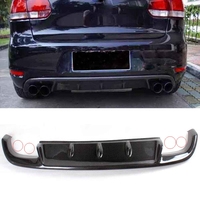 MK6 Carbon Fiber Rear Bumper Lip Diffuser Spoiler for Volkswagon Golf 6 MK6 GT I Bumper Only 2012 2014