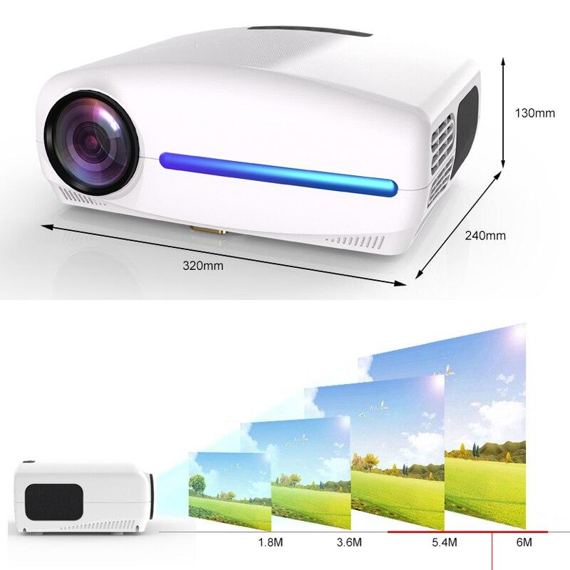 WZATCO C2 1920*1080P Full HD 45 degrés numérique keystone projecteur LED android 9.0 Wifi en option Portable maison Proyector Beamer - 4