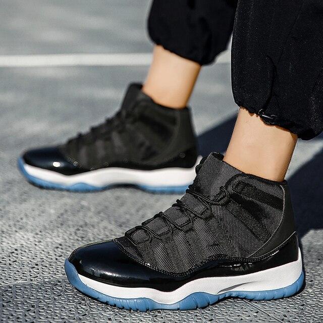 Calzado de baloncesto de marca para Hombre y mujer, zapatillas deportivas acolchadas de alta calidad, cómodas, color negro, nuevo 6
