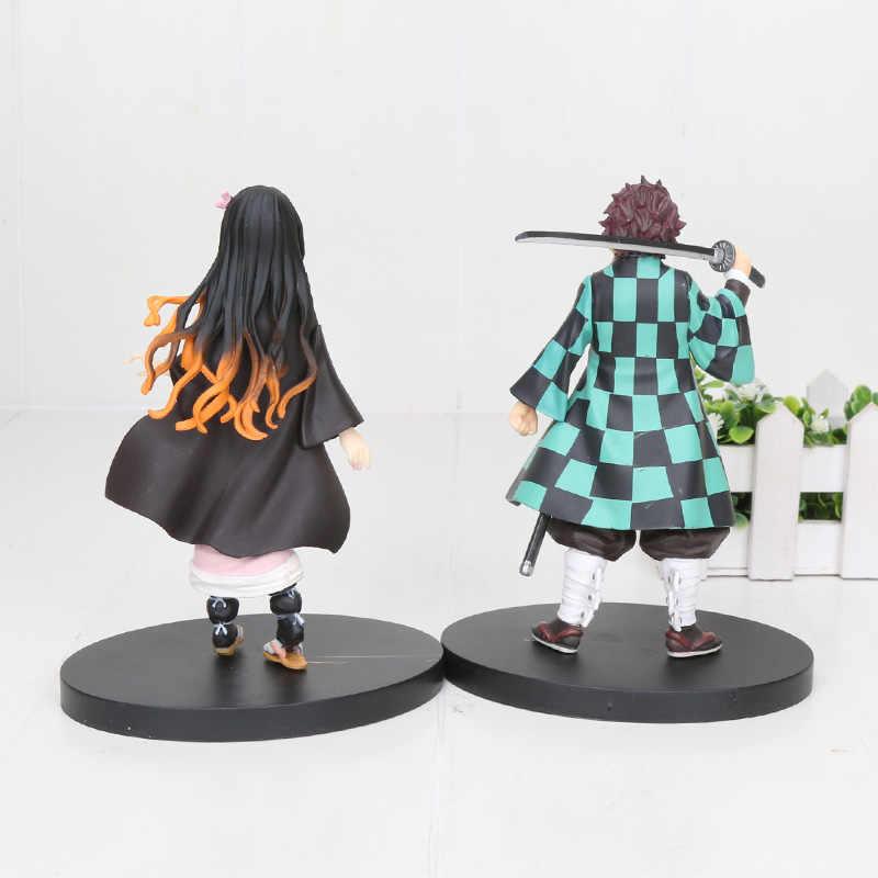 16 Cm Anime Nhật Bản Demon Slayer Kimetsu Không Yaiba Hình Kamado Tanjirou Nezuko Nhựa PVC Chiến Binh Mẫu Figuals Đồ Chơi quà Tặng