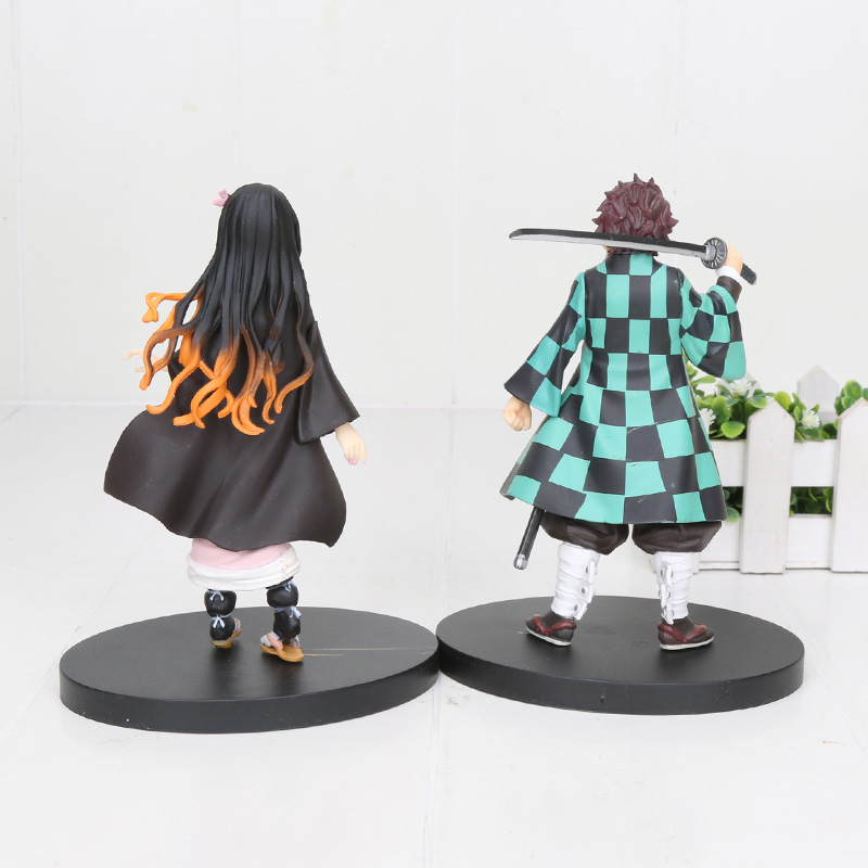 16cm Japan Anime Demon Slayer Kimetsu no Yaiba figure Kamado Tanjirou Nezuko PVC Action Figure Warrior
