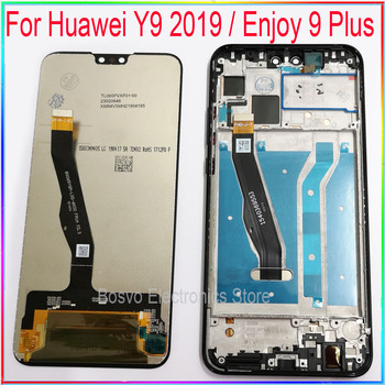 for Huawei Y9 2019 LCD screen display Enjoy 9 Plus with touch with frame assembly Replacement repair parts