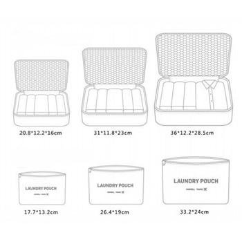 Hot Sale 6 Pieces Travel Organizer Storage Bag Set Clothes Bags Suitcase 3