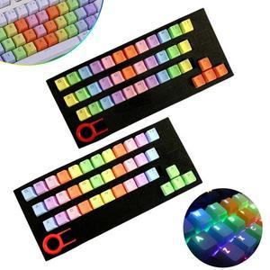 37 Key Computer Accessory Mechanical Keyboard Translucidus PBT Gaming Keycap Set(China)