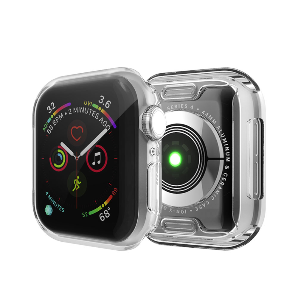 Watch Cover Case For Apple Watch 4 5 3 2 1 42MM 38MM Soft 360 Slim Clear TPU Screen Protector For IWatch Series 5/4 44MM 40MM