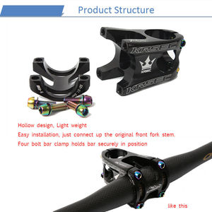 Image 5 - KRSEC Aluminium Stem MTB Mountain Bike Stem potence velo Titanium Bolts Colors Short HandleBar Stem for 28.6mm Bicycle Fork
