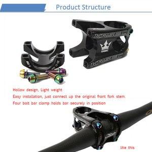 Image 5 - KRSEC الألومنيوم الجذعية الدراجة الجبلية MTB الجذعية بوتاس فيلو التيتانيوم البراغي الألوان قصيرة المقود الجذعية ل 28.6 مللي متر شوكة دراجة