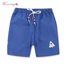 Детские шорты для мальчиков детские летние хлопковые шорты для мальчиков, тонкие шорты для малышей Повседневная одежда для детей от 2 до 8 лет