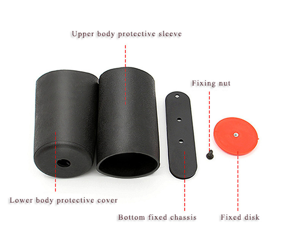 0.25L/0.3/0.35/0.45 (High Pressure Gas Cylinder Cover) Aluminum Cylinder Cover Protective Cover for Small Steel Cylinder