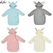 Newborn Boy Girl Knitted Sleeping Bag Infant Envelope Blanket Stroller Sleepsack