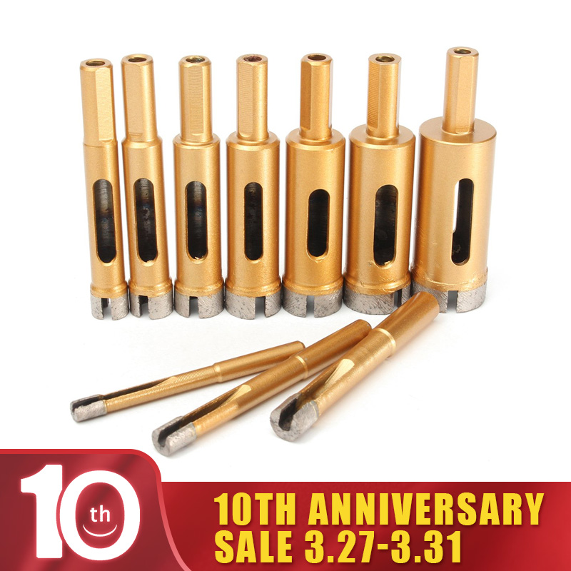 6/8/10/12/14/16/18/20/22/25 Mm Diamond Drill Bit Hole Saw Tile Glass 1PCs Marble Glass Hole Cutter Drill Bits