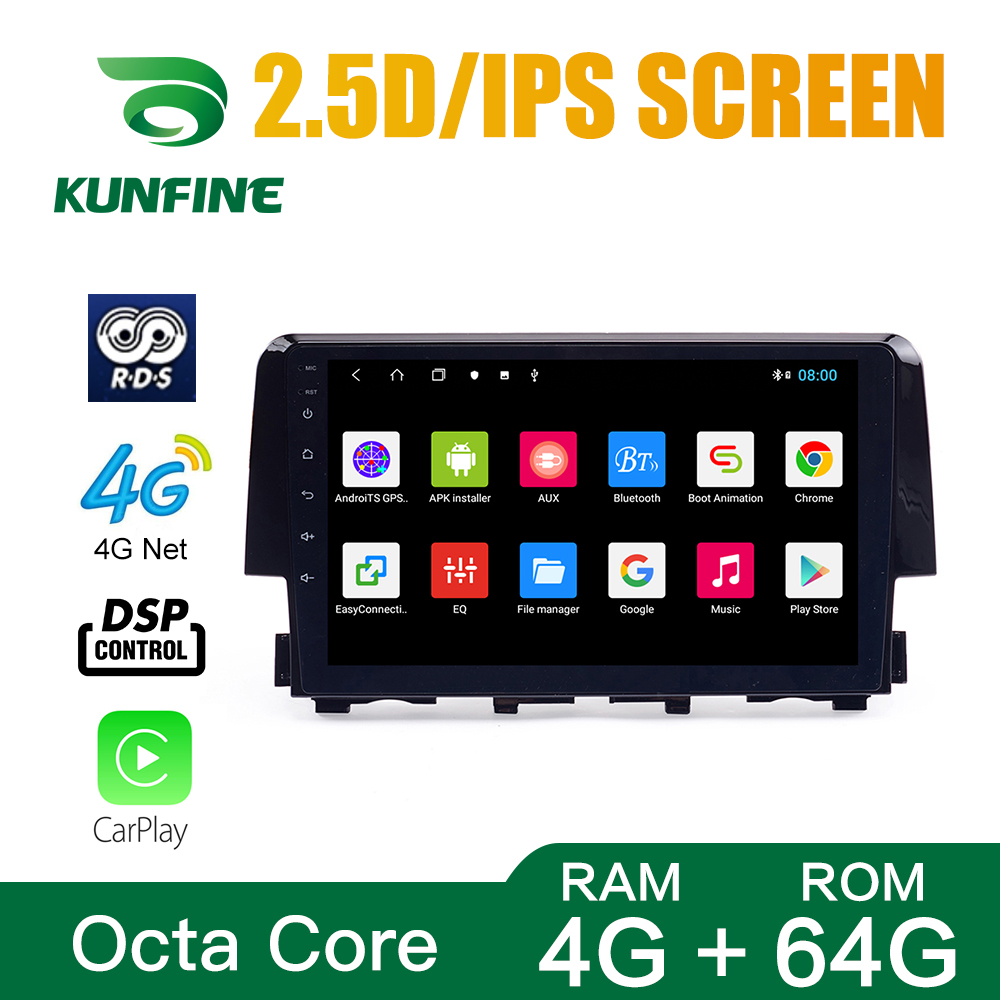 Car Radio ForHonda <font><b>Civic</b></font> 2016 Octa Core 1024*600 Android 10.0 Car DVD GPS Navigation Player Deckless Car Stereo Headunit 3G Wifi image