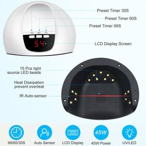 Image 5 - LKE UV Led Lamp SUN X5 mini Nail Dryer For All Types Gel 15 PCS LED Lamp for Nails with Portable UV lamp Nail Art Manicure Tools