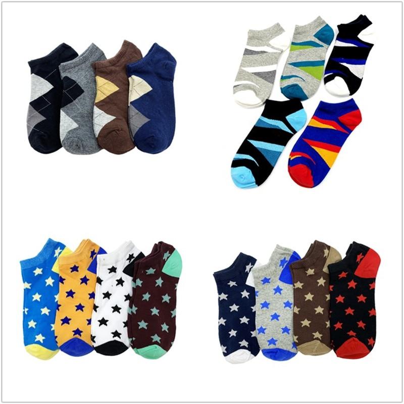 1 Set(4/5 Pairs) Mens Socks Slippers Sport Cotton Socks Men Comfortable Dropshipping