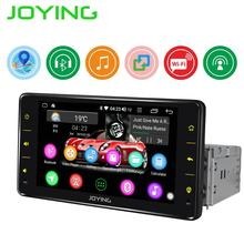 цена на JOYING single din 6.2 inch Android 8.1 Car radio player Quard Core head unit support SWC/Mirror link/wifi GPS USB BT autoradio