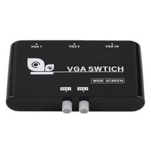 Kebidumei 2 в 1 из мини 2 порта VGA селектор коробка VGA/SVGA ручной обмен селектор переключатель коробка для ЖК дисплея компьютера