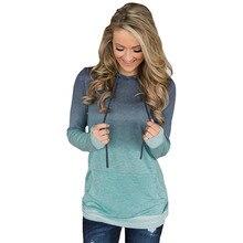 2019 Hot Sales Fashion Warm Hoodies Print Tie Pocket Hooded Shirt Gradient Sweatshirt Street Wear hooded panel pocket tartan shirt