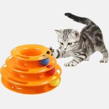 Três níveis torre faixas disco bola suprimentos de treinamento para animais estimação gato inteligência brinquedo de diversões triplo gato faixas brinquedos brinquedo do gato de estimação